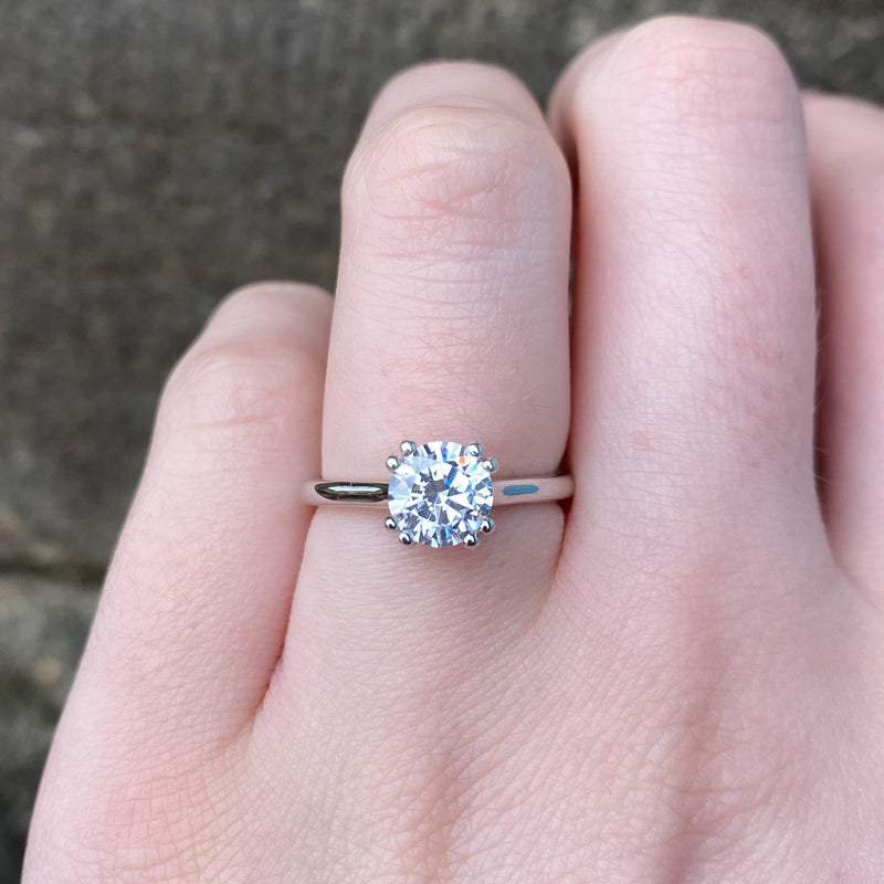 Sophia - Double Claw White Diamond Solitaire - Made-To-Order