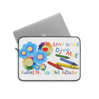 Stay home with DJ Moe Laptop Sleeve