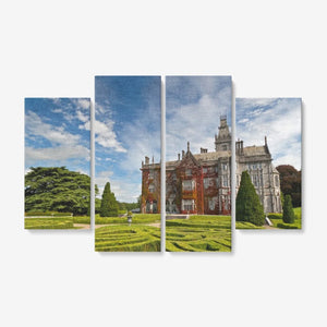 "Limerick Ireland 4 Piece Canvas Wall Art for Living Room - Framed Ready to Hang 4x12""x32"