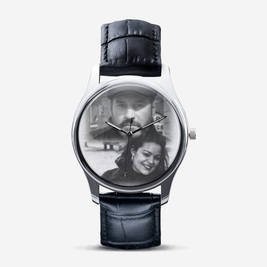 Timing is Everything Classic Fashion Unisex Print Black Quartz Watch