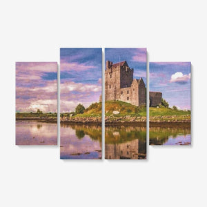 "Dunguaire Castle Ireland for the Living Room -  Hang 4x12""x32"