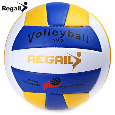 Regail Official Size 5 Weight Volleyball Outdoor Indoor Training Competition Handball