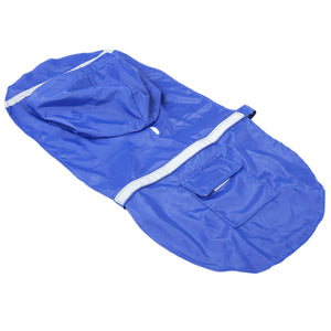 Adjustable Pet Dog Reflective Rain Jacket Raincoat with Hood