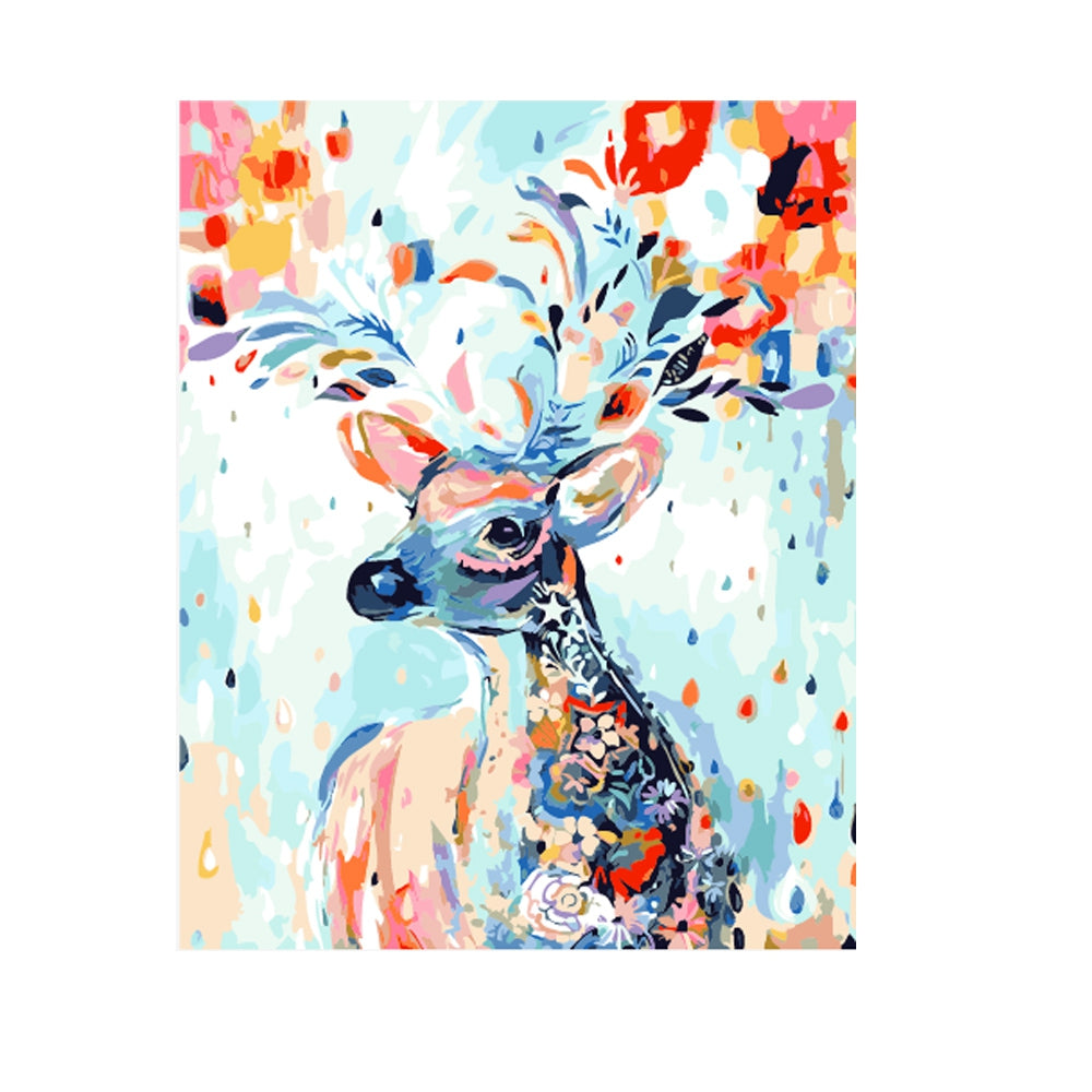 Living Color Deer DIY Digital Oil Hand Painting Wall Decor
