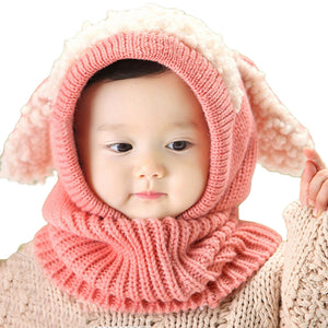 Winter Berry Wool Hood