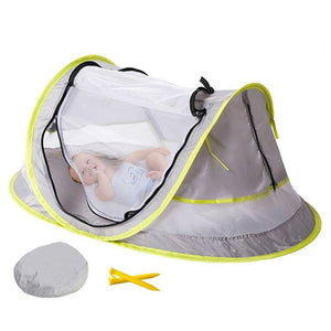Portable Baby Crib Travel Bed Beach Tent with UV Protection