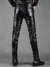 Load image into Gallery viewer, Multi Zip Embellished Slim Fit PU Leather Pants