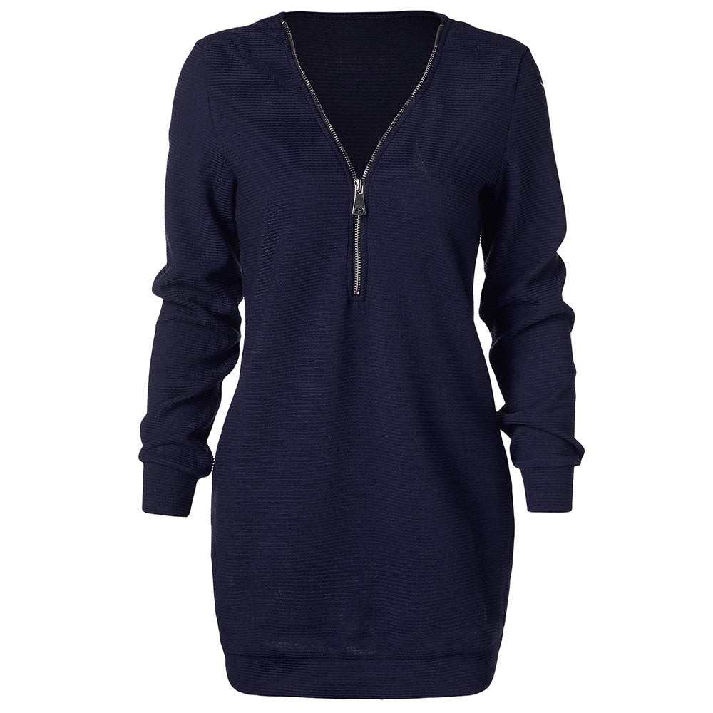 Half Zipper Longline Sweater