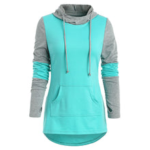 Load image into Gallery viewer, Kangaroo Pocket Armhole Two Tone Hoodie