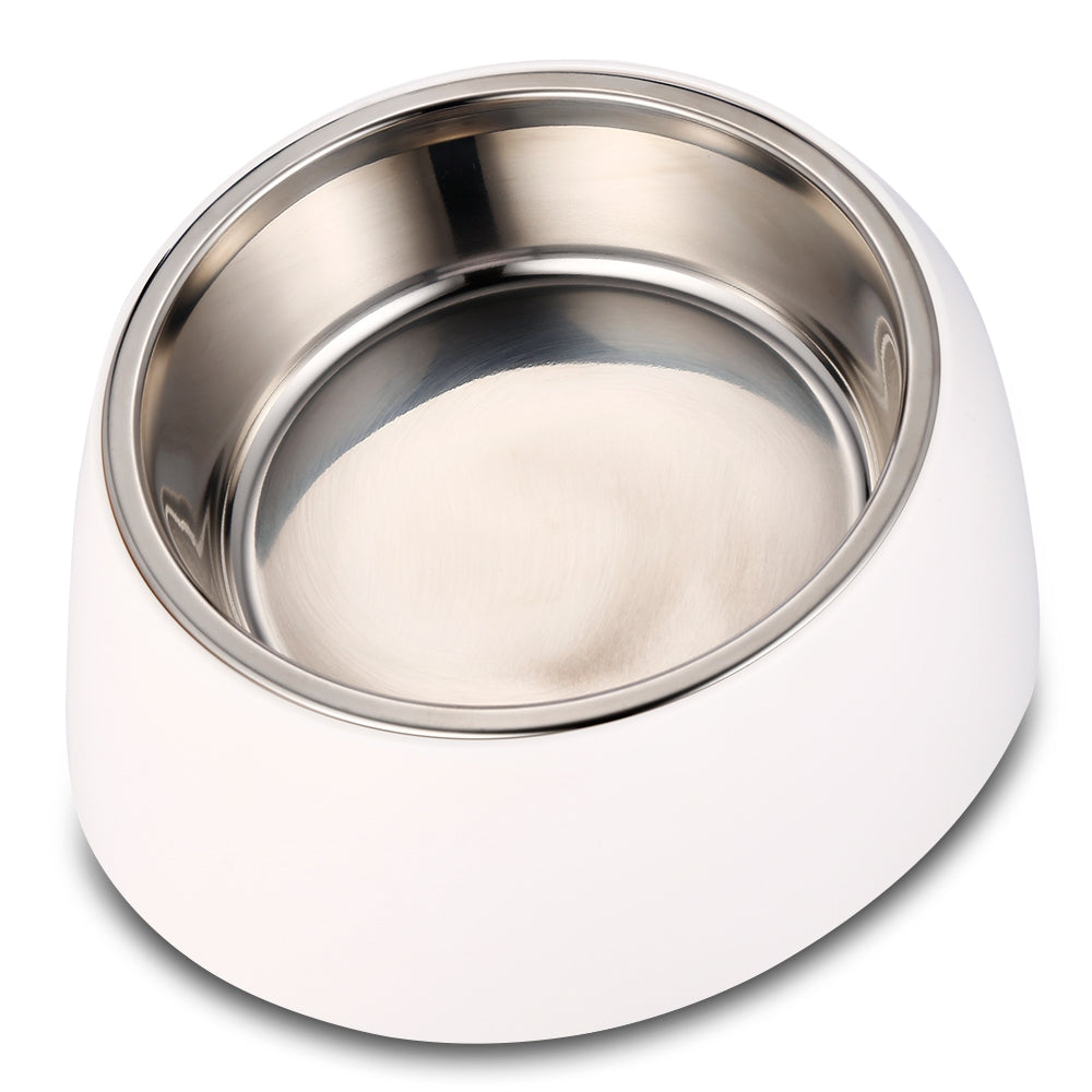 Stainless Steel Pet Bowls with Rubber Base for Dogs Cats