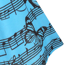 Load image into Gallery viewer, Music Note Butterfly Print Bowknot Lace Tank Top
