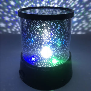 Living Fantasy Romantic Lamp Starry Sky Rotating Star Projector Bedroom LED Night Light