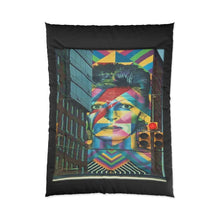 Load image into Gallery viewer, Tribute To Bowie Hoboken Street Art Comforter