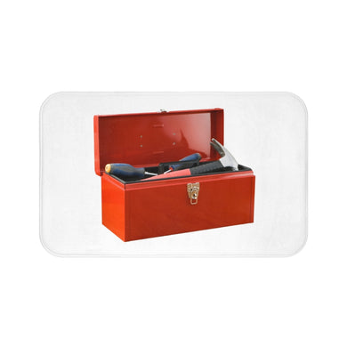 Red Toolbox Bath Mat