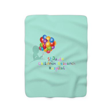 Every life is a gift St. Jude Children Hospital Sherpa Fleece Blanket