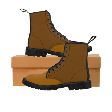 BROWN TAN Men's Canvas Boots