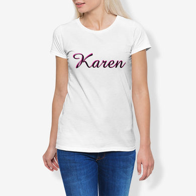 Karen Women's Cotton Stretch CrewNeck T-Shirt