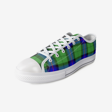 Architectural Urban Style Tartan Low Top Canvas Shoes