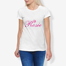 Load image into Gallery viewer, Rosie Women's Cotton Stretch CrewNeck T-Shirt
