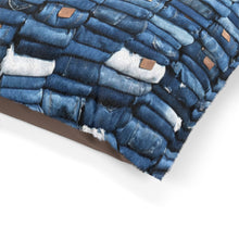 Load image into Gallery viewer, Puerto Padre Denim Paw & Meow Bed