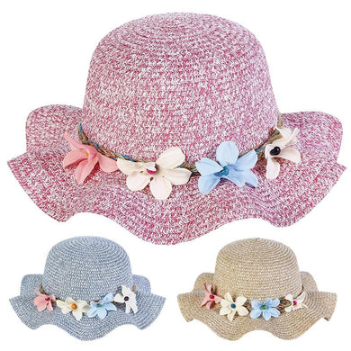 Legacy Lace New Summer Baby Straw Sun Floral Hats