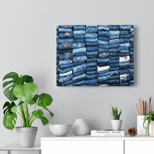 Load image into Gallery viewer, Multiple Denim Canvas Gallery Wraps