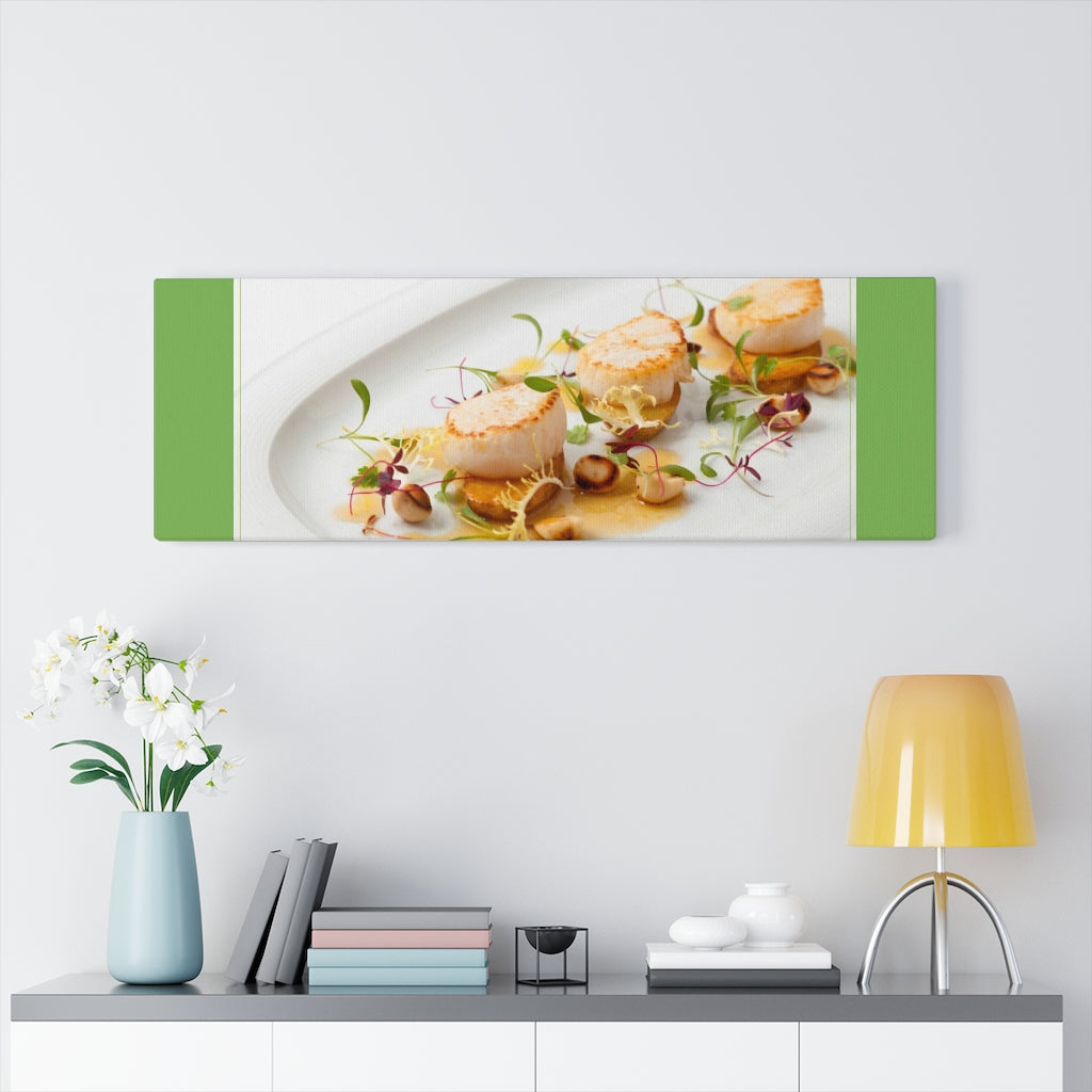 Culinary Art Therapy Scallops Canvas Gallery Wraps