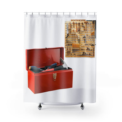 Red Toolbox Shower Curtains