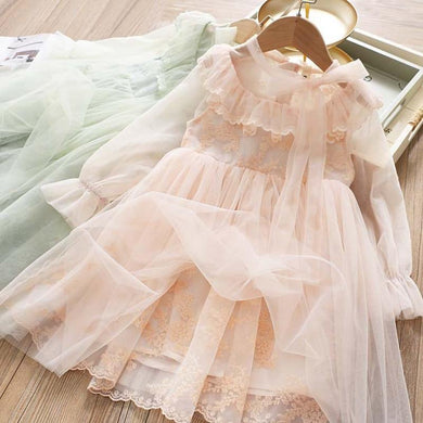 Floral Girls Dress Summer Princess Embroidery Flower