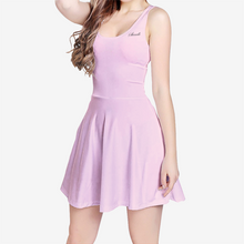 Load image into Gallery viewer, Women's Sleeveless Midi Casual Flared Skater Dress