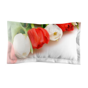 Floral Tulips Microfiber Pillow Sham
