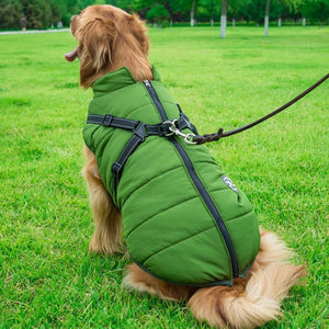 Waterproof Cloth Big Dog Coat Winter 5 Color Sleeveless Harnesses Vest Jacket