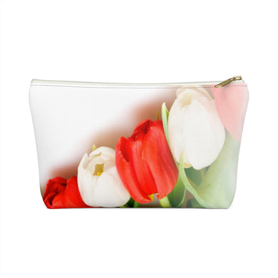 Floral Tulip Accessory Pouch w T-bottom