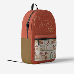 Cairo Retro Colorful Print Trendy Backpack