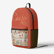 Load image into Gallery viewer, Cairo Retro Colorful Print Trendy Backpack