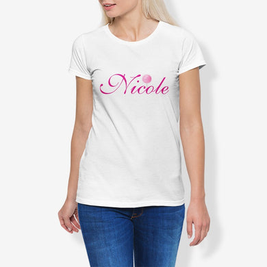 Nicole Women's Cotton Stretch CrewNeck T-Shirt
