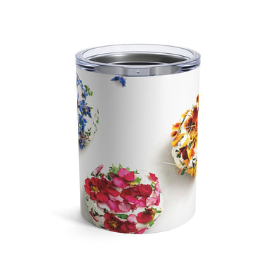 Goat Cheese Edible Florals Tumbler 10oz