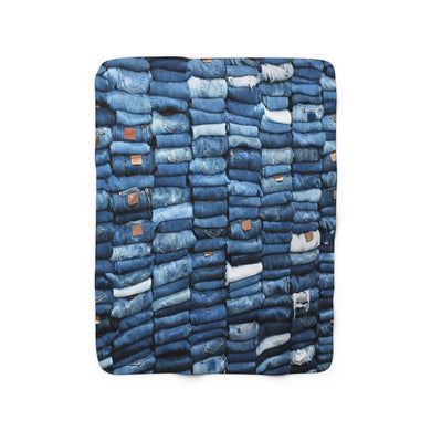 Puerto Padre Denim Sherpa Fleece Blanket