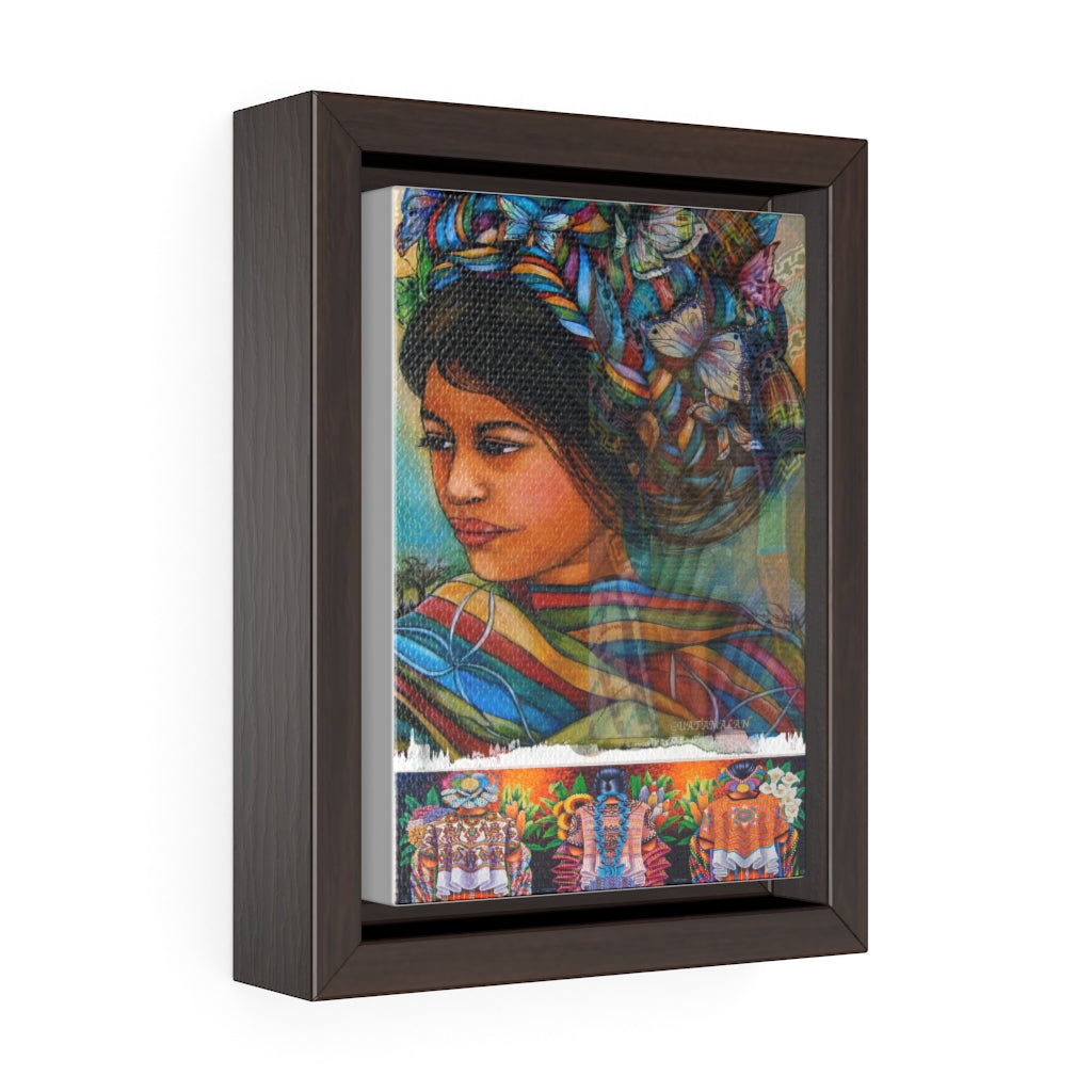 Central American Art Vertical Framed Premium Gallery Wrap Canvas