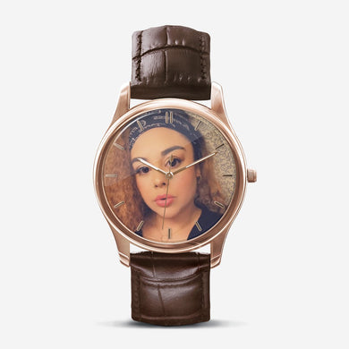 Classic Custom printed Cherish the moments Quartz Watch
