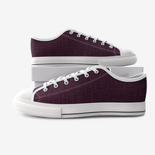 Load image into Gallery viewer, Burgundy Low Top Canvas Shoes