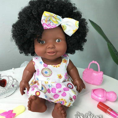 Cute Baby Movable Joint African Doll