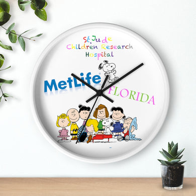 Saint Jude Children Metlife with Snoopy in Florida Wall clock