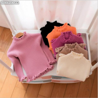 Baby Sweater Ruffle Turtleneck Baby Girls Sweaters