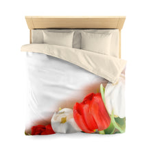 Load image into Gallery viewer, Floral Tulips Microfiber Duvet Cover