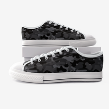 Load image into Gallery viewer, Lexi Hudson Yards Black Low Top Canvas Shoes