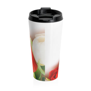 Floral Tulips Stainless Steel Travel Mug