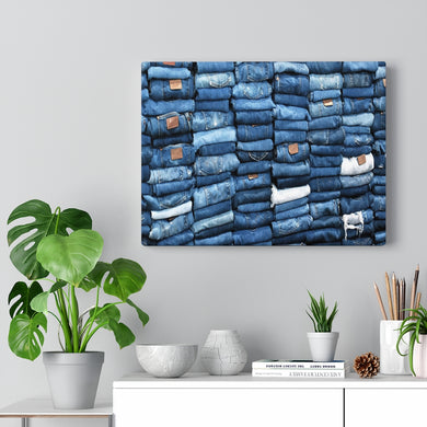 Multiple Denim Canvas Gallery Wraps