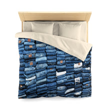 Load image into Gallery viewer, Puerto Padre Denim Microfiber Duvet Cover