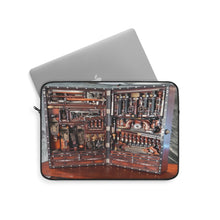 Load image into Gallery viewer, Wooden toolbox chromebook Laptop Sleeve